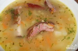 Гороховый суп с копчеными рёбрышками - фото шаг 9