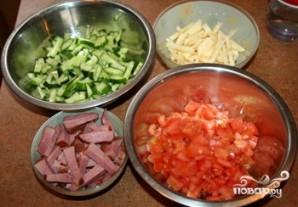 Салат с яблоками и ветчиной - фото шаг 4