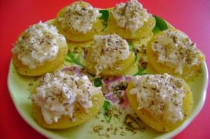 Салат в персиках - фото шаг 5