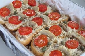 Фаршированный багет с курочкой, сыром и шампиньонами - фото шаг 4