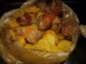 Окорочка куриные с картошкой - фото шаг 5