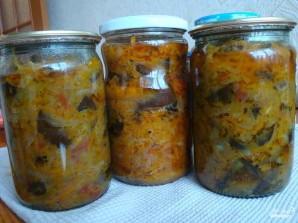 Солянка с баклажанами и капустой - фото шаг 7