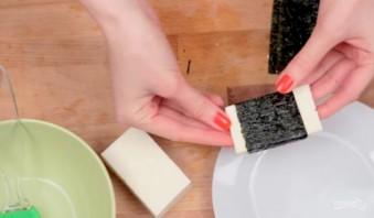 Жареный сыр в нори - фото шаг 2