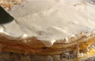 """Закусочный торт """"Наполеон"""" - фото шаг 7"""