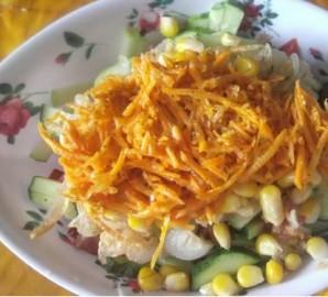 Охотничий салат с курицей - фото шаг 3