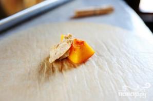 Блинчики с персиковой начинкой - фото шаг 3