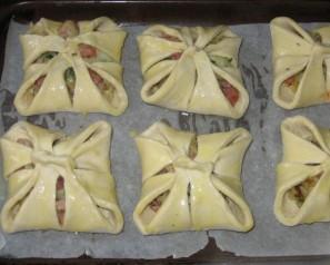 Хачапури с ветчиной и сыром - фото шаг 5