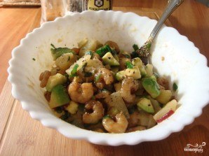 Теплый салат с креветками - фото шаг 5