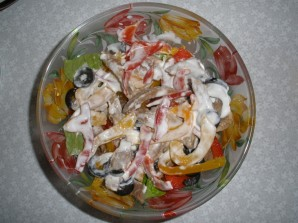 Салат с языком и перцем - фото шаг 7