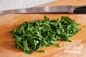 Салат из фасоли с чесноком - фото шаг 4