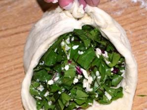 Осетинский пирог с ботвой и сыром - фото шаг 4