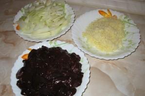 Печень говяжья, тушенная в сметане - фото шаг 3