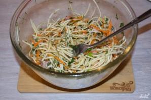 Салат из зеленой редьки - фото шаг 4
