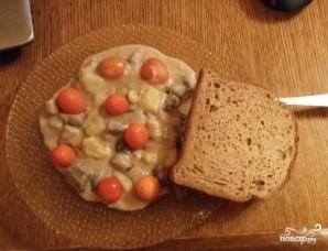 Грибная солянка с картошкой и сметаной - фото шаг 5