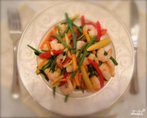 Креветки с овощами - фото шаг 5