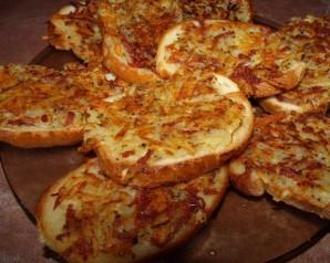 Бутерброды с колбасой на сковороде - фото шаг 5
