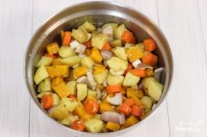 Овощи со свининой в духовке - фото шаг 2