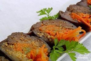 Квашеные баклажаны с морковкой и чесноком  - фото шаг 10