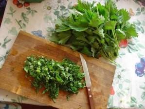 Салат с опятами - фото шаг 7