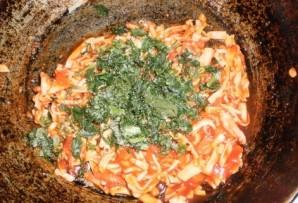 Спагетти с крабовыми палочками - фото шаг 9
