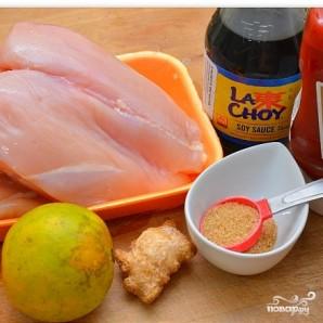 Куриный шашлык с ананасом - фото шаг 1