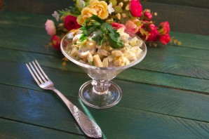 Салат с шампиньонами и сыром - фото шаг 5