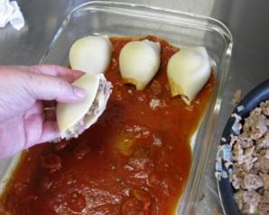 Большие макароны с фаршем - фото шаг 7