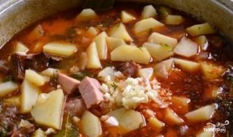 Картошка со свининой в казане - фото шаг 4