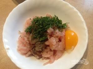 Куриные шарики в рисовой панировке - фото шаг 2