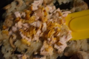 Пирог блинный с курицей - фото шаг 5
