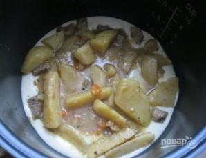 Пирог на кефире с мясом - фото шаг 4