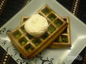 Диетические зеленые вафли с мороженым - фото шаг 7