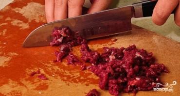 Самсы из слоеного теста с мясом - фото шаг 1