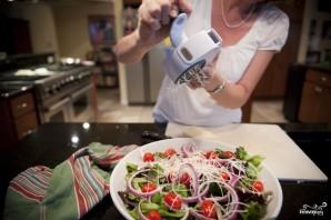 Салат с жареным мясом - фото шаг 4