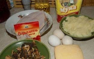 Маффины с курицей и грибами - фото шаг 1