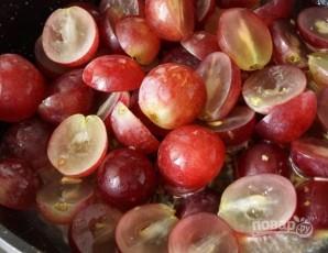 Грушевый крем с виноградом - фото шаг 3