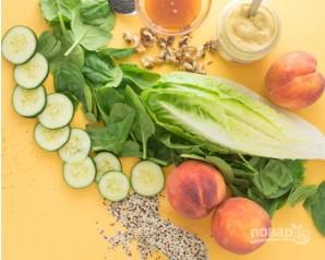 Салат с персиками и киноа - фото шаг 1