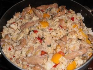 Рис с грибами и овощами - фото шаг 12