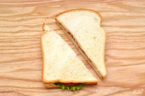 Сэндвич с ветчиной - фото шаг 5