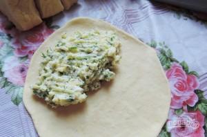 Лепёшки с сыром в духовке - фото шаг 4