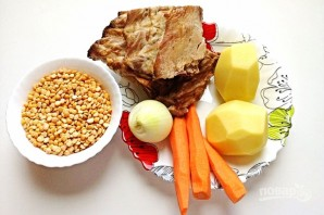 Суп гороховый с ребрами - фото шаг 1