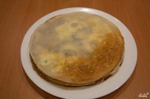 Блинный пирог с грибами - фото шаг 11