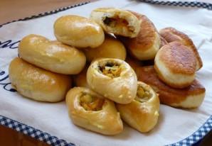 Пирожки с грибами и капустой - фото шаг 11