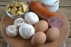 Салат с ветчиной и грибами - фото шаг 1
