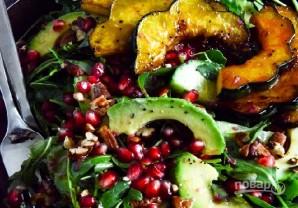 Салат из тыквы и рукколы с орехами и гранатом - фото шаг 6