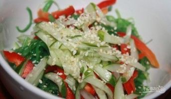 Салат из водорослей чука - фото шаг 4