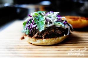 Сэндвичи со свининой и капустой - фото шаг 5