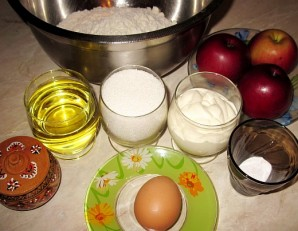 Песочный пирог с яблоками - фото шаг 1
