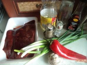Поджарка из печени говяжьей - фото шаг 1