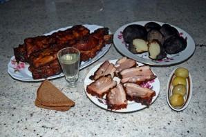 Копчение свиных ребрышек в коптильне - фото шаг 5